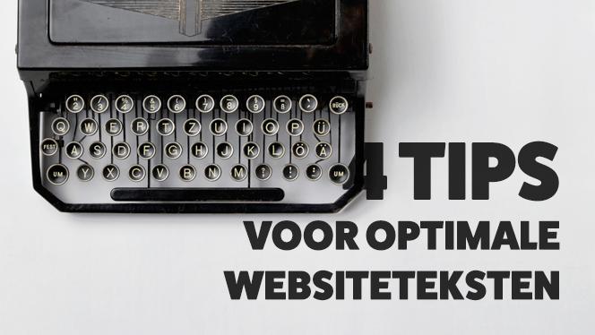 4 tips voor optimale websiteteksten
