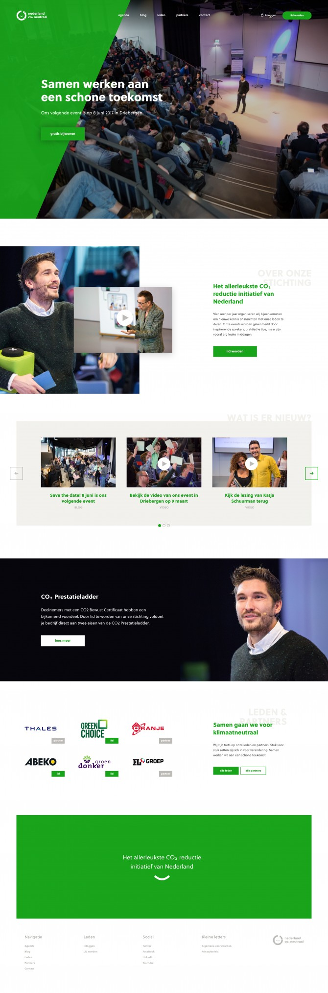 Website Nederland CO<sub>2</sub> Neutraal