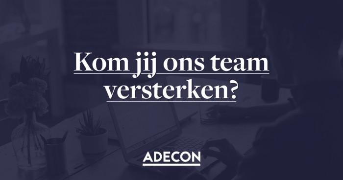 Meegroeien met Adecon? Versterk ons team!