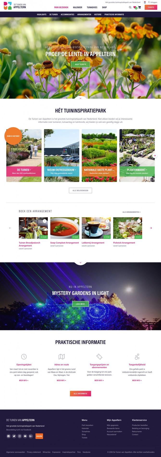 Website De Tuinen van Appeltern