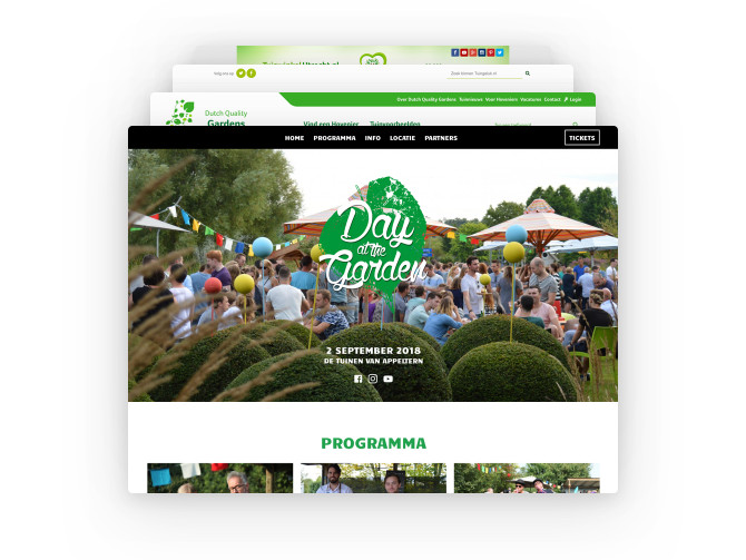 De vele zuster-websites van De Tuinen van Appeltern