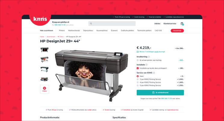 Nieuwe website voor Koopeenplotter.nl