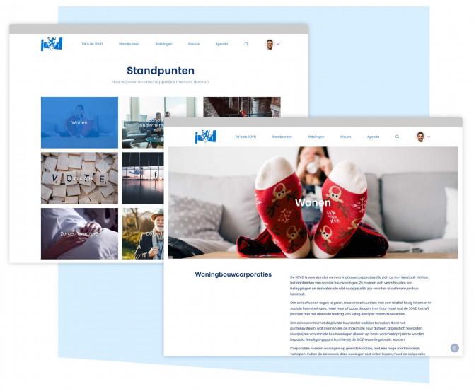 Website JOVD - Adecon Webdesign
