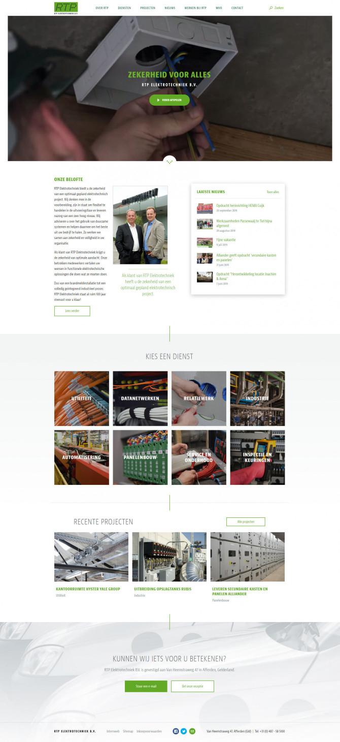 Website RTP Elektrotechniek B.V.