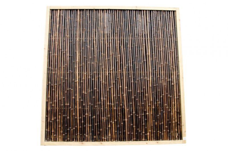 Bamboescherm 185 x 185 cm Zwart