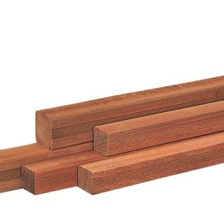 Hardhouten paal 300 x 8,5 x 8,5 cm geschaafd