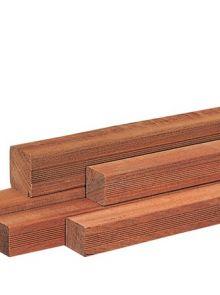 Hardhouten paal 300 x 6,5 x 6,5 cm geschaafd