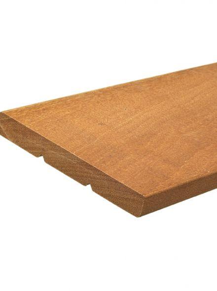 Hardhouten plank geschaafd 1,6 x 14,5 x 365 cm