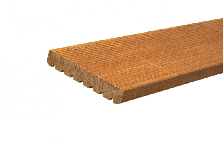 Hardhouten vlonderplank (2,1 x 14,5 x 305 cm)