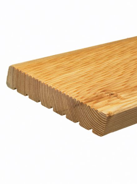Vlonderplank 1,9 x 14,5 x 300 cm (GeÏmpregneerde, gewolmaniseerde vlonderplanken)