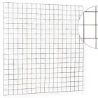 Gaasmat 180 x 180 cm verzinkt en stekloos (Bouwstaalmat verzinkt).