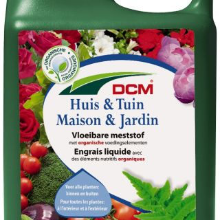Vloeibare meststof voor tuinplanten en kamerplanten (2,5 liter)