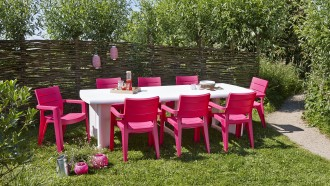 Flexibel met kunststof tuinmeubilair