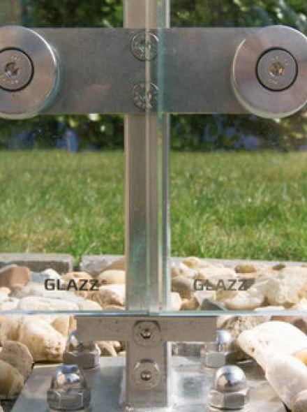 Glazen windscherm vrijstaand (10 vakken, tot 12,5 meter, 180 cm hoog)