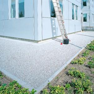 Stabiele grindpaden