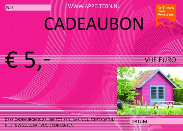 Cadeaubon - Vijf euro