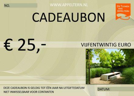 Cadeaubon - Vijfentwintig euro