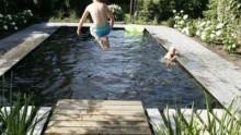 Zwemvijvers zijn leverbaar in elke vorm en passen in iedere tuin!