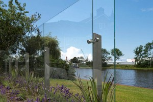 Een glazen windscherm