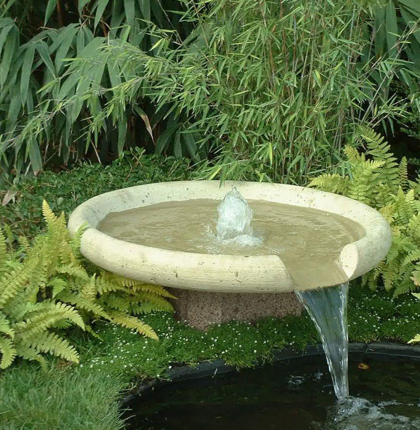Waterschaal 80 cm vijverset (Fonteinschaal + vijverset, waterornament)