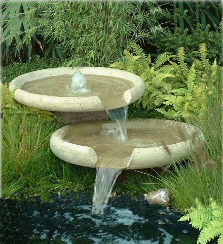 Waterschalen 80 cm vijverset (set 2 schalen en pomp)