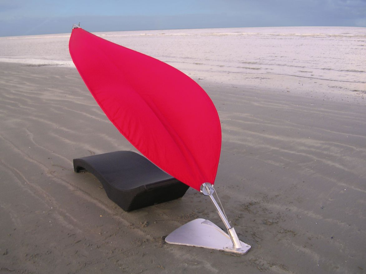 Rimbou zeil Lotus 260 cm. Premium Red (Parasol)