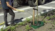 Bomen water geven met de RootBarrier® Gietrand