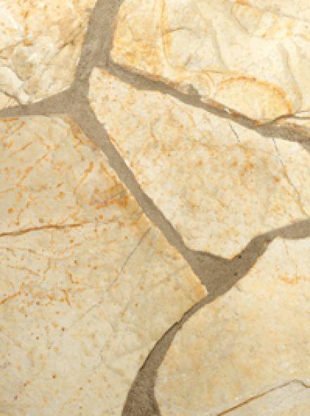Flagstones Bourgogne 2-4 cm geel - per m2