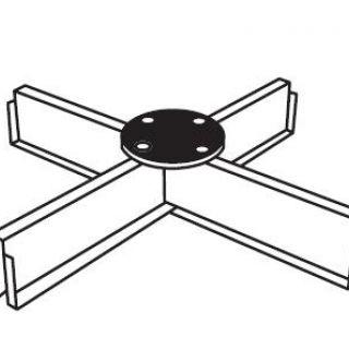 Tegelvoet (vullen met 40 x 40 cm tegels)