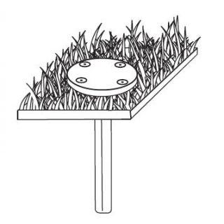 Betonanker voor draaisteun (Betonanker Voor rotatievoet 360°)