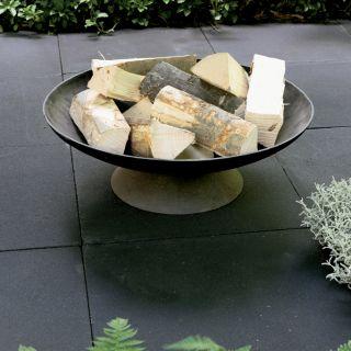 Zwarte betontegel 60x60x4cm zonder facet (per stuk)