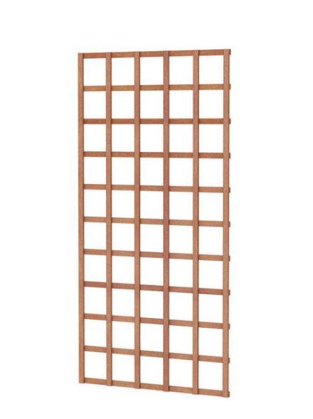 Hardhouten trellis rechthoek 90 x 180 cm (art. 14320)