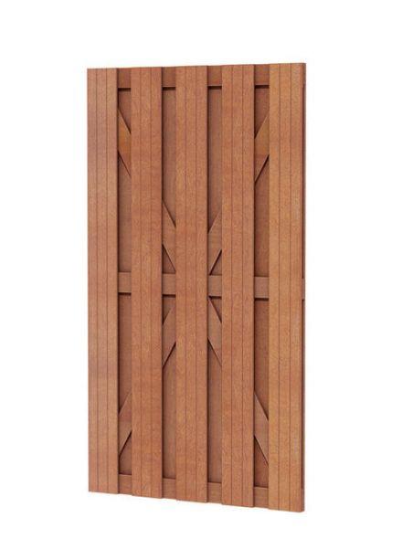 Hardhouten plankendeur recht (Hardhouten poort, art. 14502)