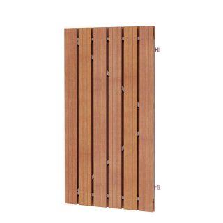 Hardhouten plankendeur met verstelbaar frame (Hardhouten poort, art. 14525)