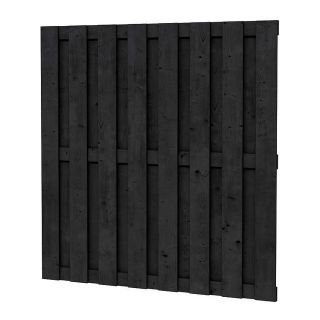 Zwart geïmpregneerd schutting 180 x 180 cm (art. 08080)