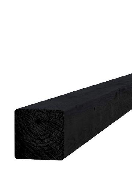 Zwart geïmpregneerde paal 8,8x8,8x270 cm (art. 08095)