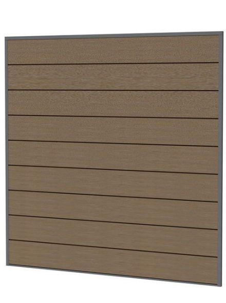 Composiet schutting bruin 181,5 x 181,5 cm (art. 23620)