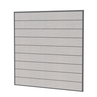 Composiet schutting grijs 181,5 x 181,5 cm (art. 23625)