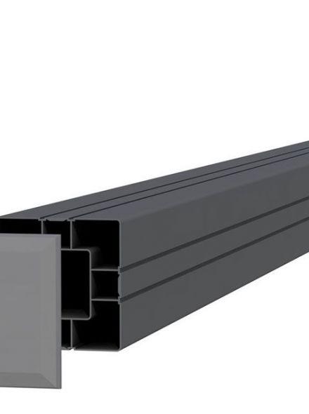 Aluminium paal antraciet (art. 23585)