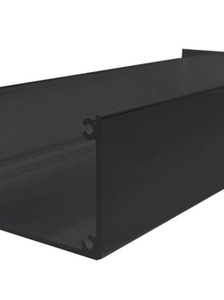 Antraciet aluminium dakgoot 400 cm lang (art. 43555)