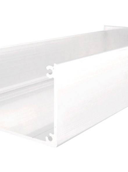 Witte aluminium dakgoot 500 cm lang (art. 43535)