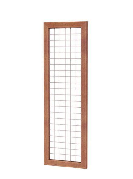 hardhouten trellis met betongaas 60x180cm (Art. 14303)