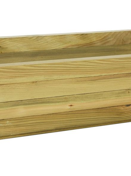Houten Bloembak rechthoek 42x92x32 cm (Art. 636410)