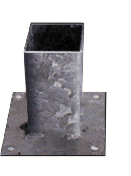 Vloerpaalhouder verzinkt 7x7cm (Art. 19026)
