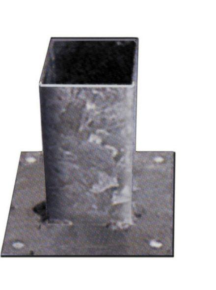 Vloerpaalhouder verzinkt 9x9cm (Art. 19027)
