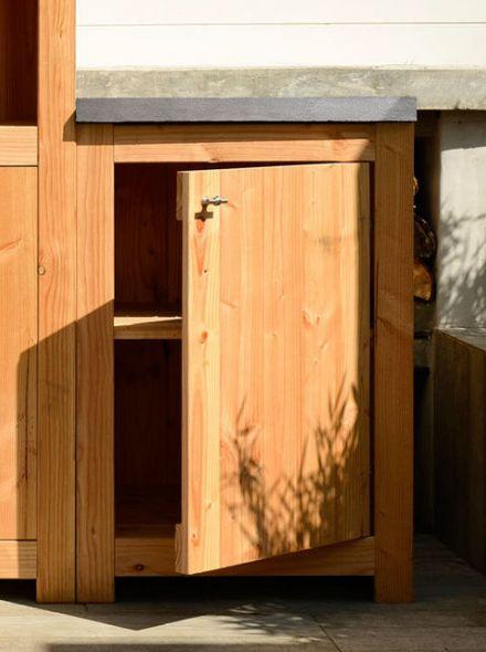 Douglas Tuinkast enkel 90 cm met deur (Art. 11700)