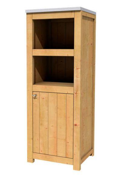 Douglas Tuinkast enkel 168 cm met deur (Art. 11690)