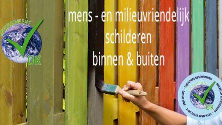 Buitenverf en Binnenverf (Verf voor in de tuin en in de woning, Außenlackierung, exterior paint)