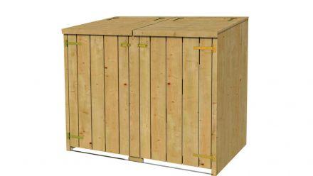 Houten tuinkasten en container ombouw