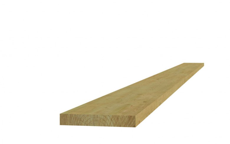 Fijnbezaagde Steigerplank 2,8x19,5x400 cm blank (Art, 06530)